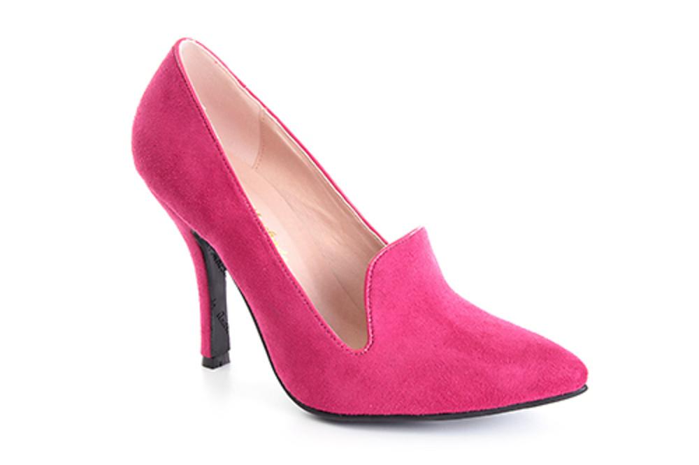 Zapato de Gamuza con tacón 10 cm. 30