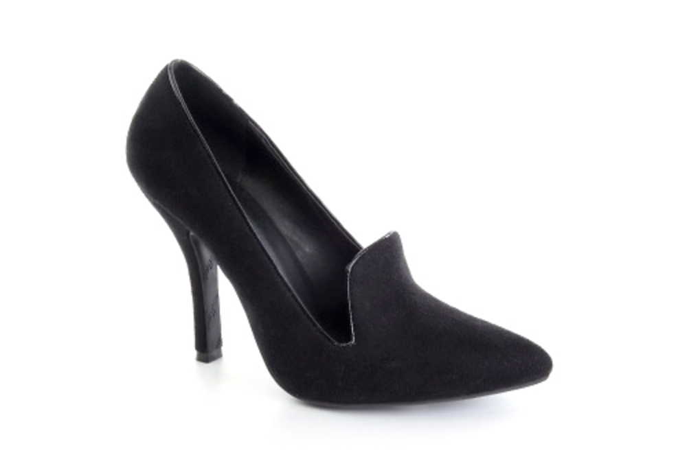 Zapato de Gamuza con tacón 10 cm. 28