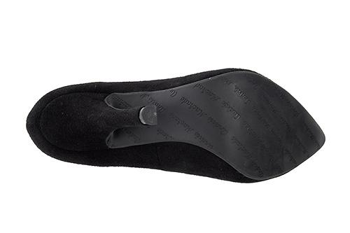 Zapato de gamuza Negro con tacón de aguja