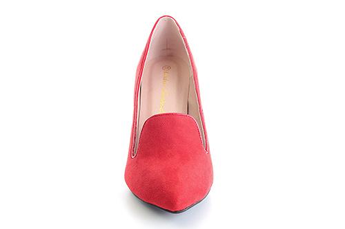 Zapato de gamuza Rojo con tacón de aguja