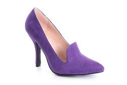 Zapato de Gamuza con tacón 10 cm.